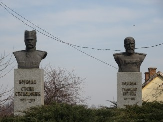 Bustes van de Servische generaals Stepanović en Putnik in Tekeriš. Foto: Mickey Mystique, CC BY-SA 3.0,
