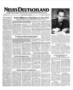 Neues Deutschland van 9 augustus 1949
