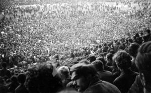 De rouwceremonie in het Gerena stadion