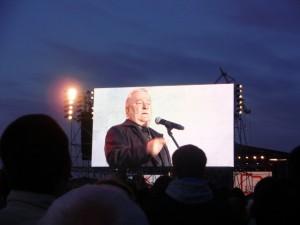 Gedroomde democraat? Lech Walesa spreekt tijdens de herdenking van 20 jaar einde van het communisme in Polen op de scheepswerf in Gdansk op 4 juni 2009, Foto: C. Miedema