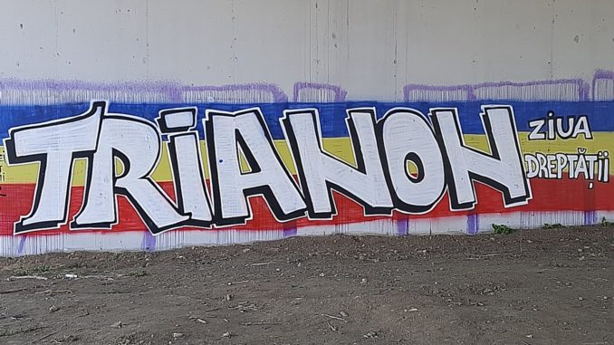 Graffiti onder een viaduct in de buurt van Boekarest
