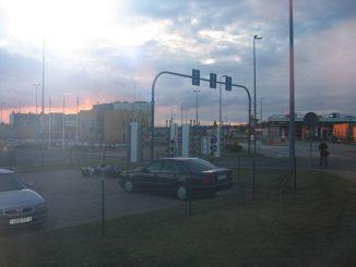 Kuźnica grensovergang tussen Belarus en Polen (Bron: Wikimedia Commons)